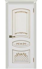 Карина 3 - эмаль белая + патина золото ДГ