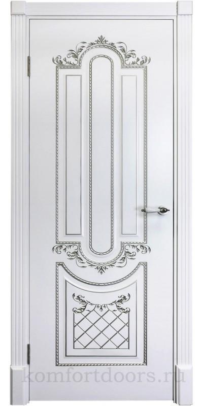 Карина 4 эмаль белая + патина серебро ДГ