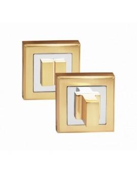 Фиксатор сантехнический на квадратном основании матовое золото