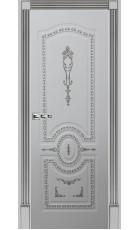 Карина 15 - эмаль белая + патина серебро ДГ